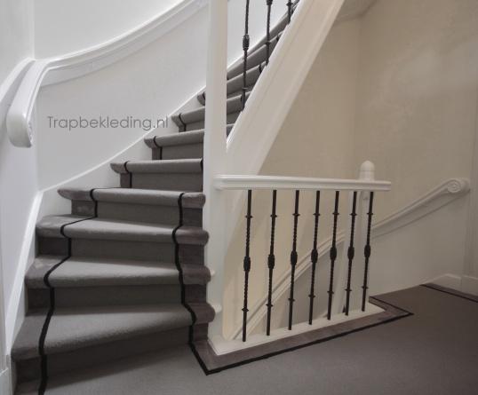Trap stofferen in 3 kleuren loper effect trap stofferen kopen in assendelft - Witte trap grijs ...