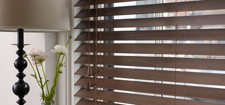 3 houten jaloezieën voor woonkamer - Houten jaloezieën kopen in ...